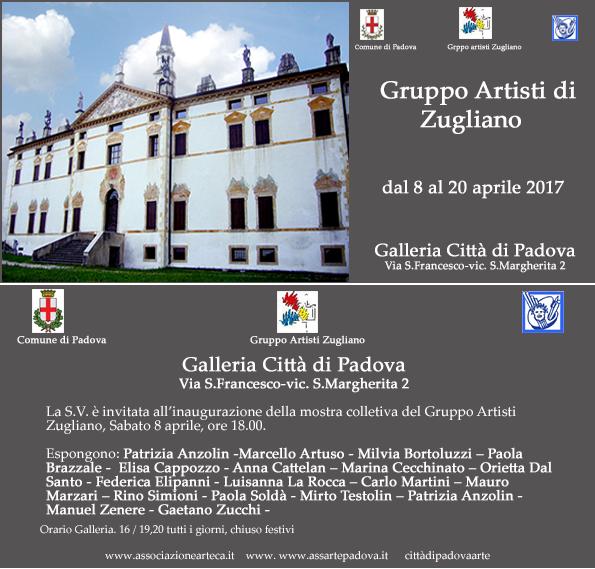 Mostra Padova Invito artisti zugliano